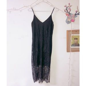 Black lace dress size small